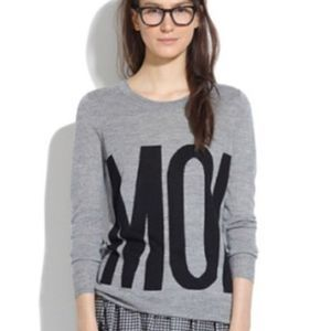 Madewell French Moi Grey Pullover Sweater
